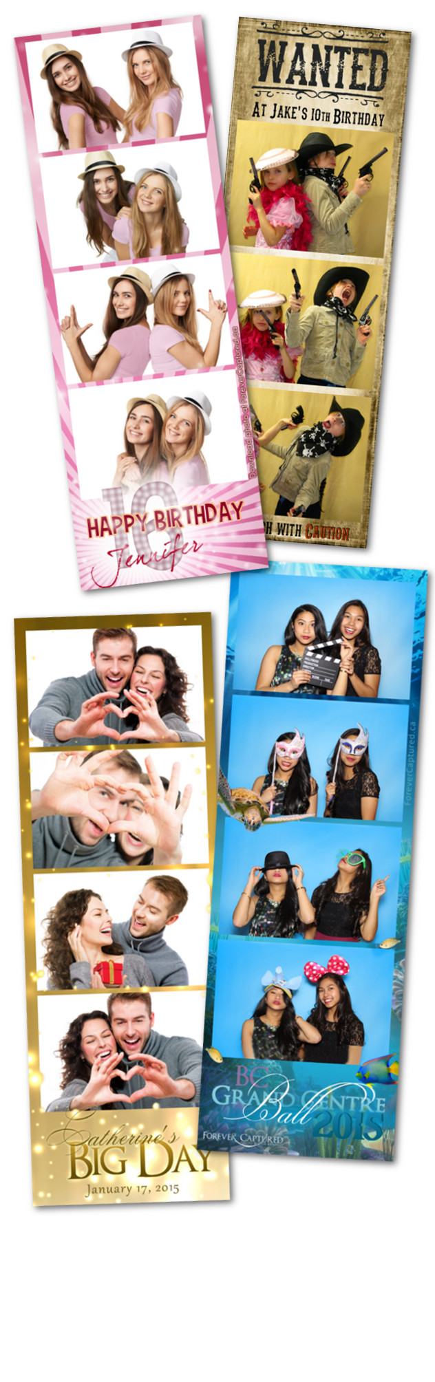 Photobooth rentals for parties, weddings, and events in Langley, BC.