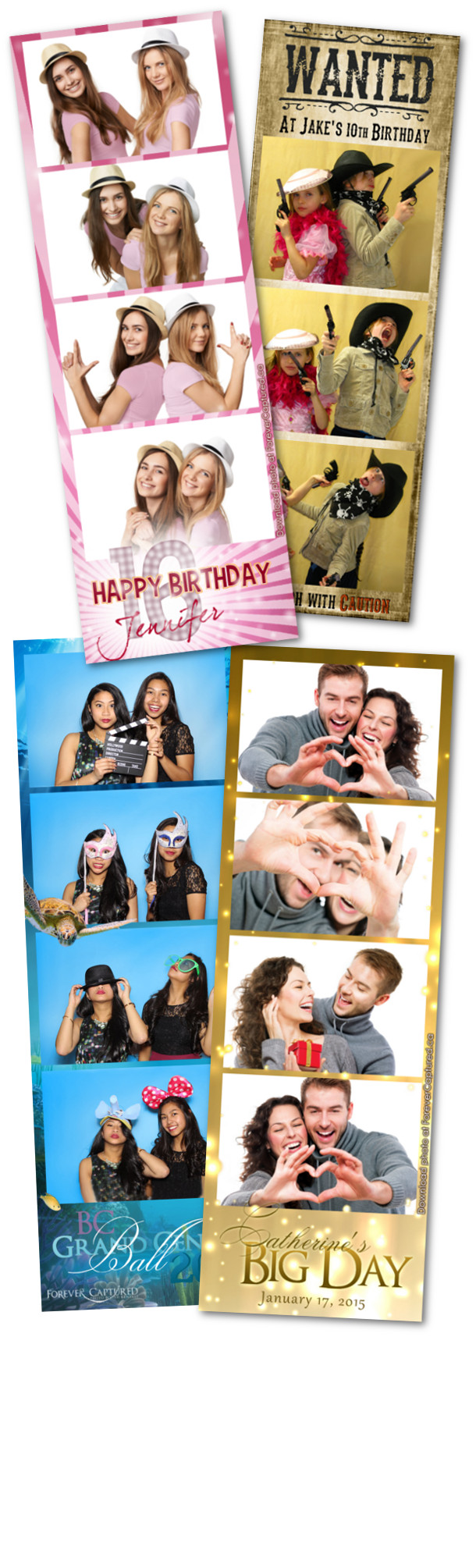 Photobooth rentals for parties, weddings, and events in BC.
