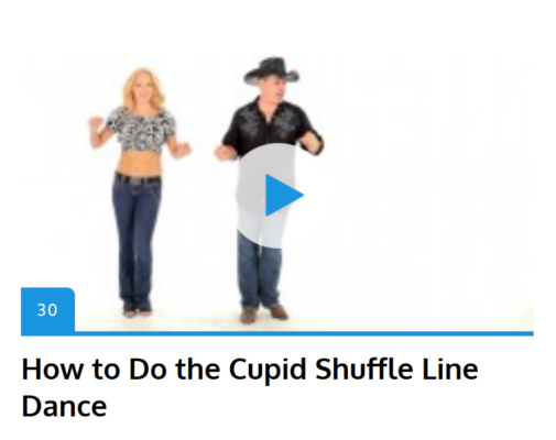 How to line dance and country dance.