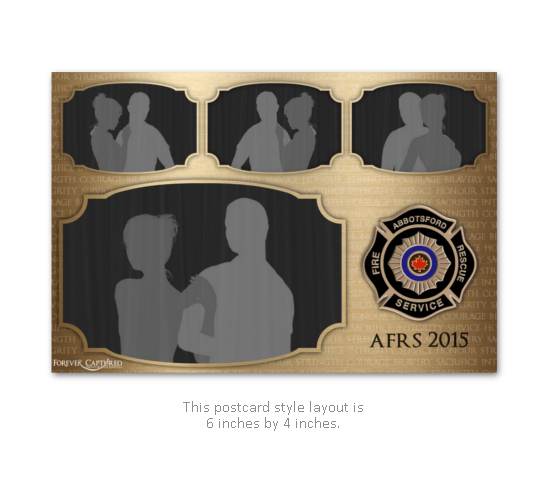 Firefighter party or event photo booth print layout.