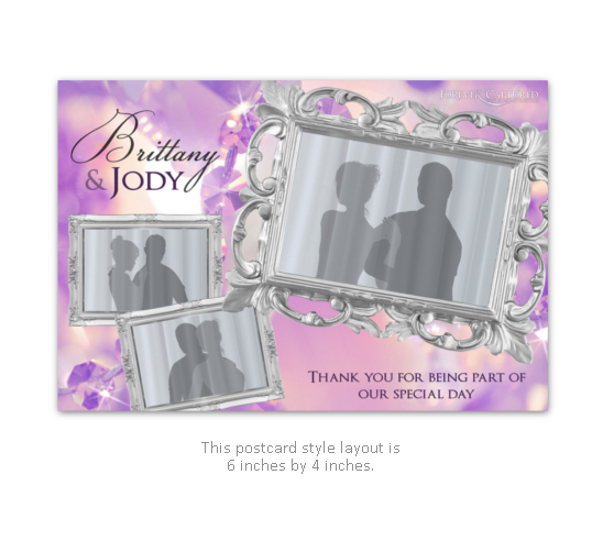 Classy, elegant wedding photo booth layout with silver and sparkle.