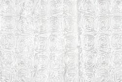Sample white swirl photo booth backdrop curtain.