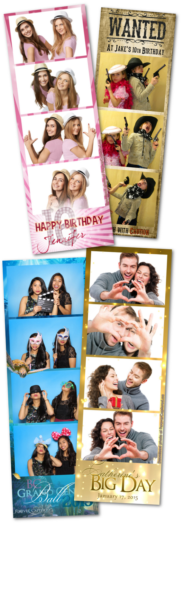 Photobooth rentals for parties, weddings, and events in Burnaby, BC.