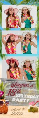 Hawaiian theme party photo strip sample.