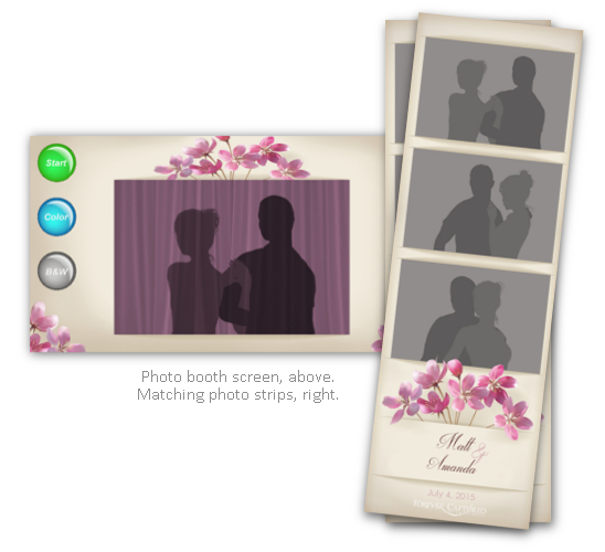 Field flowers photo strip and booth screenshot.