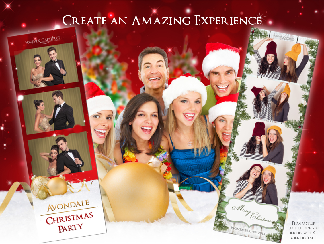 Christmas photo booth rental & hire in Greater Vancouver, BC.