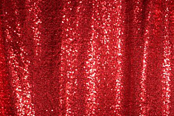 Sample red sequin photo booth backdrop curtain.