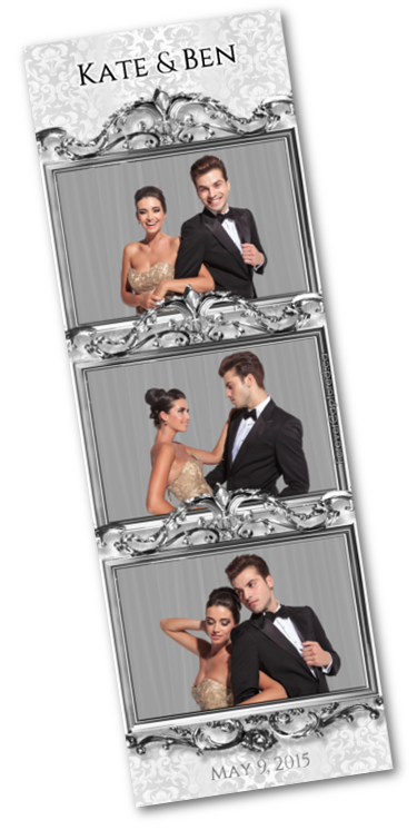 Vancouver wedding photo booth photostrip sample.